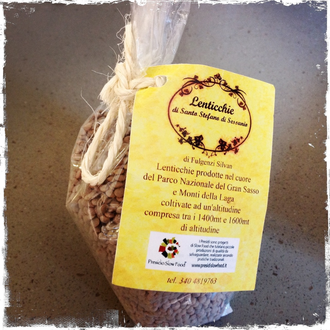 The lentils of Santo Stefano Sessanio
