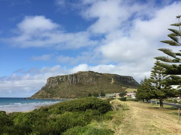 Looking back at The Nut, Stanley, Tasmania