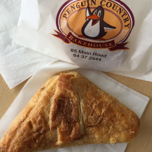 Penguin Bakery pie with smoked salmon and camembert, not penguin!