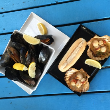 Mussels and Scallops