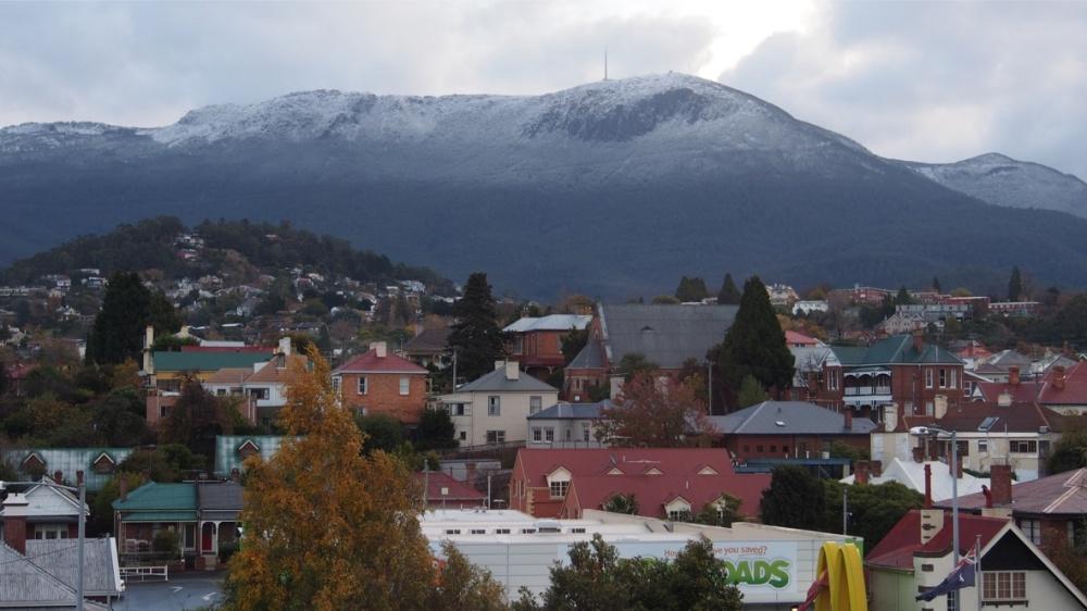 Mt Wellington - snow line
