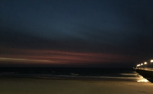 Sunset at Glenelg on our 25th Wedding Anniversary.