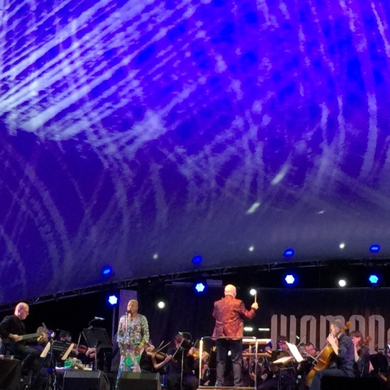 Angelique Kidjo on stage at Womadelaide. What a great night.